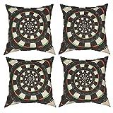 Mgbwaps Juego de 4 fundas de almohada decorativas de diana de dardos, 40 x 40 cm, fundas de cojín cuadradas, fundas de cojín para sofá, sala de estar