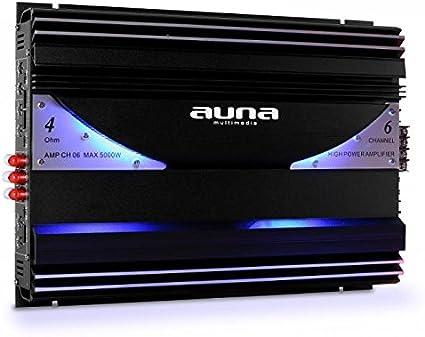 AUNA AMP-CH06 - Stylish Edition, Amplificatore per Auto