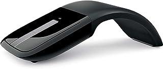 Arc Touch Mouse, 2.4GHz Wireless Mouse, Ergonomic Design, Foldable, Ultrathin, Quiet, for Computer, Laptop, Office-Black