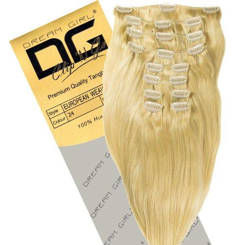 Dream Girl Extensions de cheveux à clipser Couleur 24 35 cm