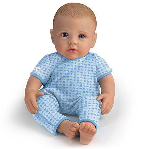 The Ashton - Drake Galleries Ashton Drake So Truly Mine Baby Boy Doll for Kids: Light Brown Hair Blue Eyes