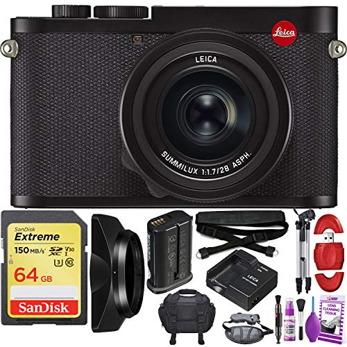 Leica Q2 Digital Camera with Summilux 28mm f/1.7 ASPH. Lens - Pro Travel Bundle