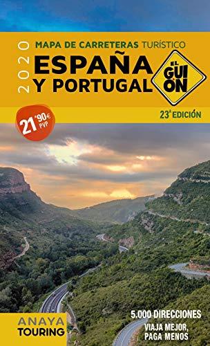 Mapa de España y Portugal El Guión de Anaya Touring