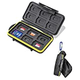 BEEWAY Tough Water Shock Resistant Protector Memory Card Carrying Case Holder 24...