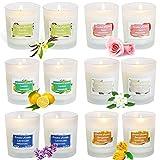 McNory 12 Pack Regalo de Velas Perfumadas,Velas Aromaticas,Cera de Soja Natural,Aromaterapia Decoración para Relajación Fiesta Boda Baño Yoga Cumpleaños Navidad Día de San Valentín Regalos