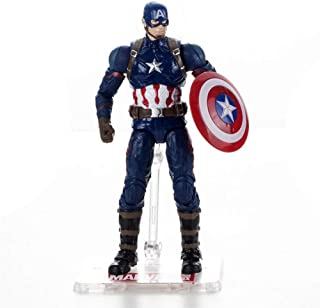 Rulercosplay Marvel Authorization Avengers 3 Iron Man Captain America Black Panther Action Figures 7 inches (Captain America)