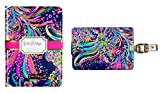 Lilly Pulitzer Passport Case with Luggage Tag Set Beach Loot