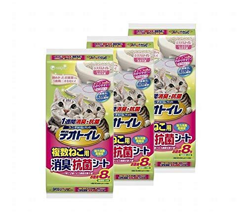 デオトイレ 1週間消臭・抗菌 複数ねこ用シート 8枚入り×3個 (8枚入り×3個)