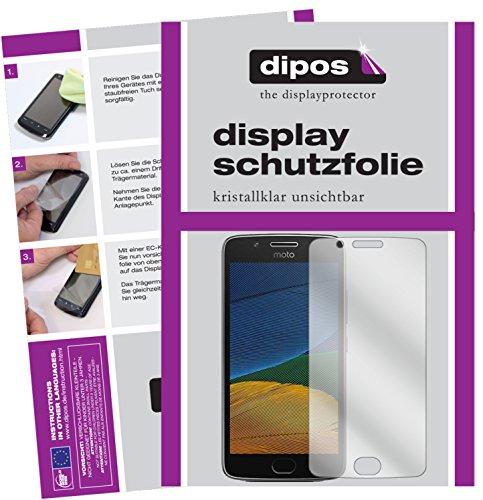dipos I 2X Schutzfolie klar kompatibel mit Motorola Moto G5 Folie Bildschirmschutzfolie