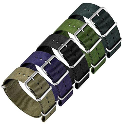 『ZULUDIVER G10 ナイロン 腕時計バンド 選べるカラー・サイズ バックル仕上げ 18mm Black / IP Black』の3枚目の画像