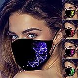 12shage Paquet De 5 Protections Personnelles Imprimées à La Mode,Respirantes Et Confortables,Protection En Tissu Réutilisable Lavable Contre La Pollution Atmosphérique