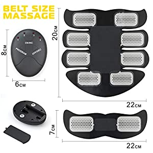 Electronic Muscle Trainer – 20 Extra Gel Pads - Belt Abdominal Muscle Toner - Abs Machine Workout Portable Toner - Muscle Training for Women - Ultimate Abs Belt for Men