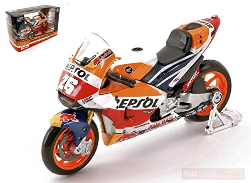 Maisto MI31595P Honda RC213V Dani PEDROSA N.26 Moto GP 1:18 MODELLINO Die Cast Compatibile...