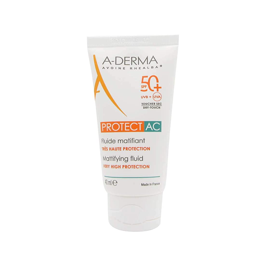 三十大量死すべきA-Derma Protect AC Mattifying Fluid SPF50+ 40ml