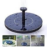 ZSM Panel Solar Mini Fuente de jardín Piscina Estanque Solar Flotante Fuente de Agua de la decoración del jardín (Color: 1 Juego, Tamaño: Un tamaño) YMIK (Color : 1 Set, Size : One Size)
