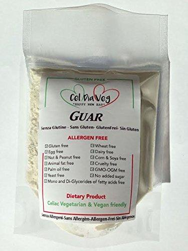 GUAR 500g Senza Glutine e Senza Allergeni, Gluten & Allergen free No OGM/GMO FREE
