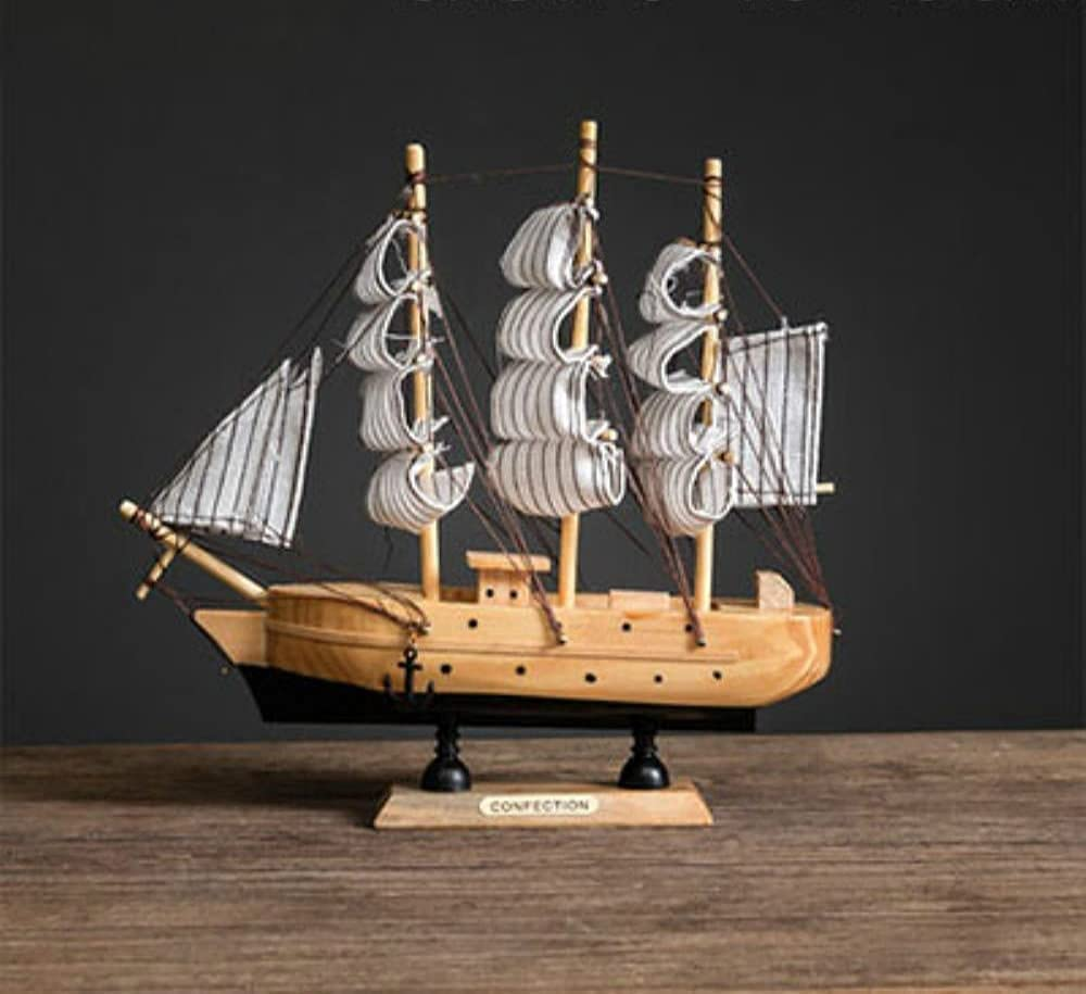 JYHZ Sculptures Wooden Sailboat Decorati New sales Model Directly managed store Home