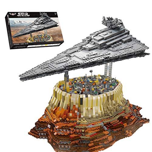 KEAYO Modelo de destructor de estrellas, 5473 piezas, grande, UCS Super Star Destroyer MOC, juego de construcción compatible con la destructor de estrellas Lego