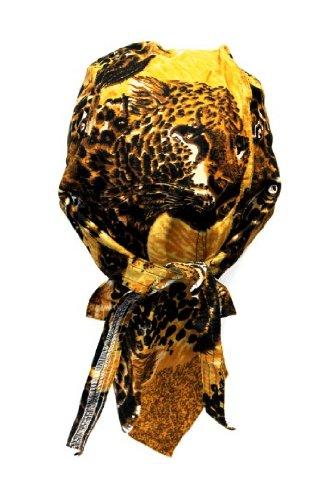 Bandana casquette préformée serrage ajustable 100 % coton moto paintball foot dessin tigre
