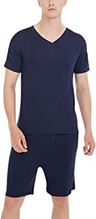 YAOMEI Mens Pyjamas Set Modal Cotton Short, 2020 Mens Short Sleeves Nighties PJ Set Sleepwear Nightwear, Summer Lingerie T...