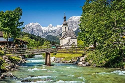 Papermoon Bavarian Alps Vlies Fotobehang 200x149cm 4-Banen