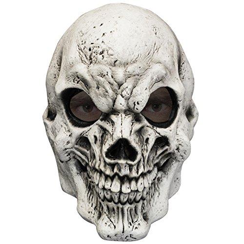 AEC - MAHAL619 - Masque tete de mort blanche en latex adulte