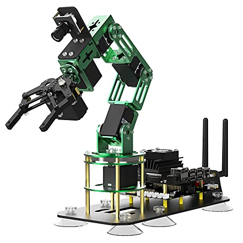Yahboom Robot Arm with Camera 6-DOF for Jetson Nano Visual Identity AI Robotic Hand Building Kit with ROS Open Source Programming(DOFBOT Without Jetson Nano)