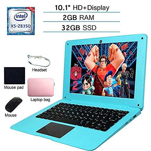 iSTYLE 10.1 inch Windows 10 Ultra Thin Full HD Laptop 2GB RAM 32GB Storage [Atom 1.44Ghz Quad Core USB 3.0 WiFi HDMI Bluetooth] Laptop Accessories,Laptop Bag  Mouse  Mouse Pad  Headphone