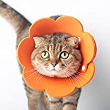 nacyvcos 猫 犬 エリザベスカラー 軽量 術後 傷口保護 介護 避妊 術後ウェア 皮膚病 かわいい 調節可能 柔らかい