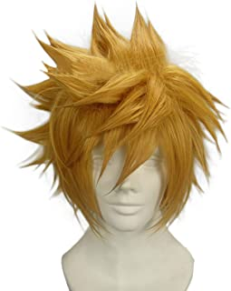 Ventus Wig Kingdom Hearts Yellow Cosplay Pre-Styled Short Wig Hair Costume Accessories Halloween Party