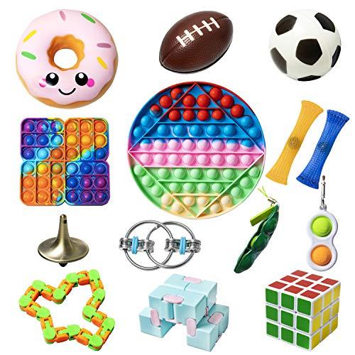 Diffrant Anti Stress Spielzeug Fidget Toys Set Kinder Erwachsene Stressabbau Autismus Sensorik Bubble Bälle Erbsen Cube Sensory Figet Fitchet Fiddle Toy Box Geschenke Kindergeburtstag Gastgeschenke