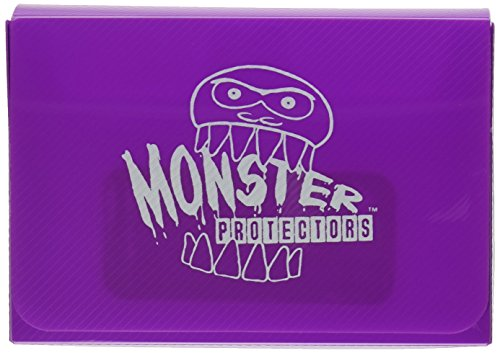 Monster Protectors Trading Card Double Deck Box with Magnetic Closure - Purple (Fits Yugioh, Pokemon, Magic the Gathering Cards)