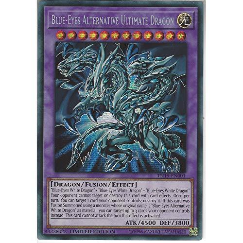 Generisch TN19-EN001 Limited Ed Blue-Eyes Alternative Ultimate Dragon Prismatic Secret Rare Card 2019 Mega Pack Tin Yu-Gi-Oh Single Card