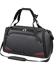 NUBILY Bolsa Deporte Hombre Bolsas Gimnasio Mujer Bolso Fin de Semana Viaje con Compartimento para Zapatos Gym Bag Impermeable Grande 40L
