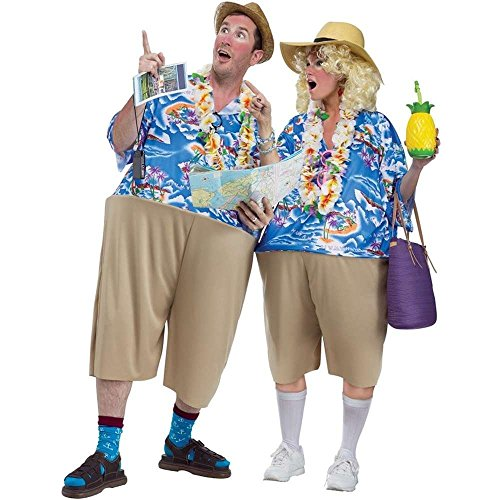 Fun World Unisex-Adult's Tacky Tourist, Multi, Standard