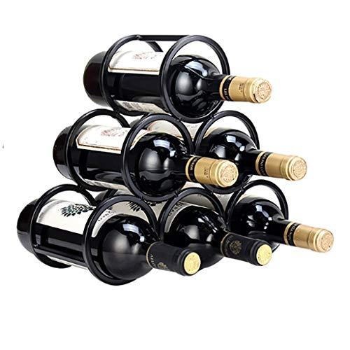 Wine Rack, 6 Bottiglia Free Standing mensola del Vino, Minimalista Design, Vino Shelf Governo, for Le Decorazioni Natalizie (Color : A)