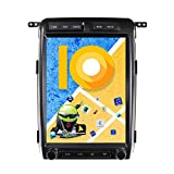 ZWNAV 13 inch Android 9.0 Tesla Style Car Stereo for Ford Raptor F150 2009-2012 Low Version, PX6 8 Core, 4G RAM 32GB ROM, IPS Touch Screen, Carplay, Radio, Bluetooth, WiFi, SWC