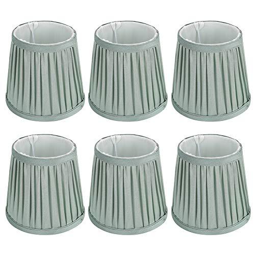6pcs Clip de pantalla de lámpara en la bombilla, cubierta de tela de tela de repuesto para lámpara de mesa/lámpara de pared/lámparas de pie de araña verde