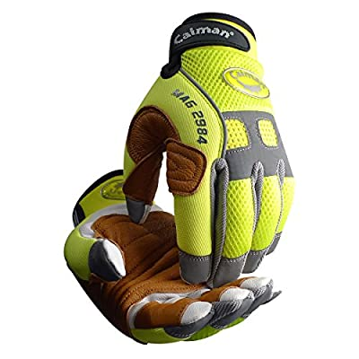 Caiman 2984 Rappelling & Rope Handling Glove with Goatskin Palm & Pig Grain Reinforcement Layer