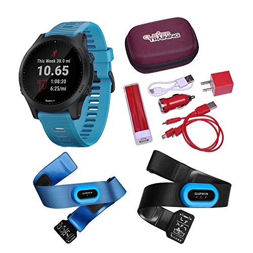 Buy Clever Training Garmin Forerunner 945 Blue & Slate Tri Bundle Power Bundle
