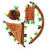 Soapow 5 unids/set caliente mascota pequeño animal nido hamaca colgante casa jaula juguete para ardilla hámster