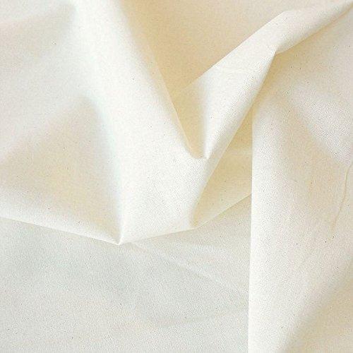 TOLKO Baumwollstoffe Meterware Nessel ROH-Baumwolle naturfarben als Dekostoff/Bezugsstoff/Modestoff (Breite: 220 cm   leicht)