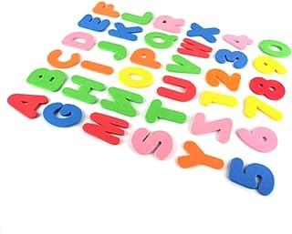 Atrumly Lär dig badleksak, skumbad bokstäver och siffror leksaker, 36 st skum flytande badkar klistermärken baby pedagogis...