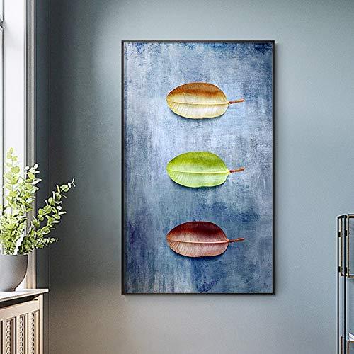ganlanshu Rahmenlose Malerei Die Blatt-Leinwand-Malerei Wird für Heimplakate und Druckwandbilder als Wohnzimmerdekoration verwendet. ZGQ5604 60X108cm