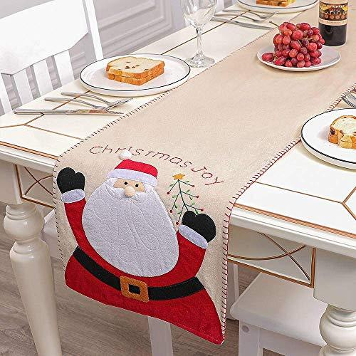 ZYYH Mantel de Navidad con Motivo de Estampado de muñecos de Nieve, Mantel de Navidad de Invierno, Camino de Mesa de Comedor Lavable, decoración de Mesa de Navidad Decorativa