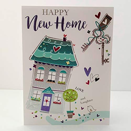 Jonny Javelin Happy New Home Card - House & Keys