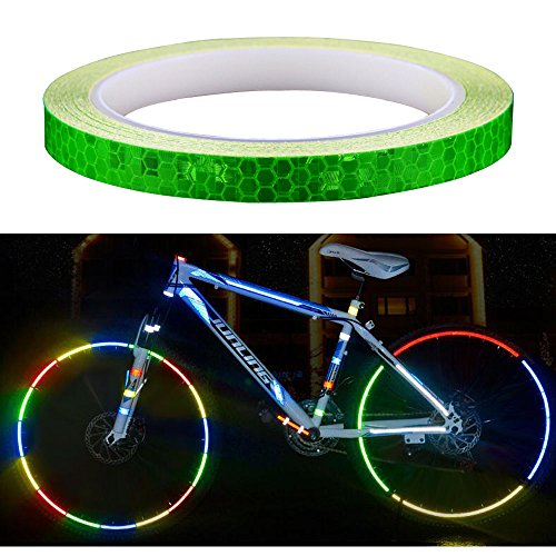 "Amaoma Fahrrad Reflektierende Aufkleber 8M, Fahrradaufkleber, Auto, Motorrad Reifen Aufkleber 315\"" (Grün)"