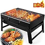 Charcoal Barbecue, Mini Portable Stainless Steel Folding Barbecue Grill-Suitable for Outdoor Garden Terrace