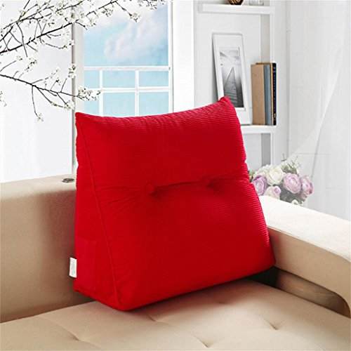 WOFULL rood driehoek nachtkastje Big Cushion Office pille achter bank Lombare hoofdkussen zacht van Bolla