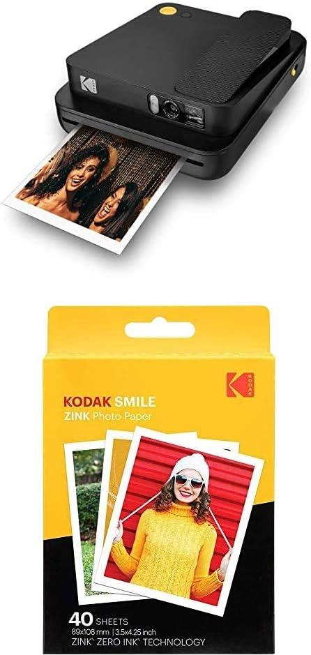 61 opiniones para KODAK Printomatic- Cámara de impresión instantánea, Gris + Paquete de 40 Hojas